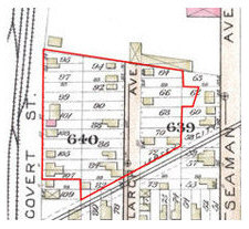 The Covert/Larch Historic District as mapped by Fowler 1887