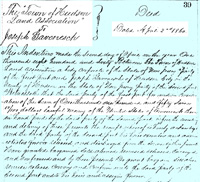 A deed shows the transfer of property from the Town of Hudson Land Association to Joseph Gavenesch