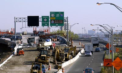 route 1 and 9 construction photo