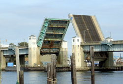 The Route 36 project will replace the 75-year-old, double-leaf bascule bridge over the Shrewsbury River photo.
